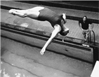 Peter Huber, former Secretary of the LEN Technical Diving Committee, seen here coaching in Vienna when younger